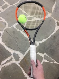Wilson Burn racquet review on the court