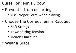cures for tennis elbow