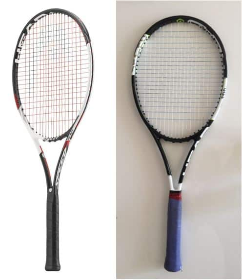 novak djokovic real tennis racquet