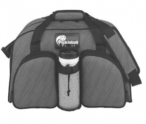 Stylish Shoulder Bag features a zipper top along with a two additional large main compartments which will easily hold at least FOUR Pickleball paddles PICKLEBALL MARKETPLACE Multi-Colored