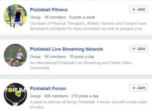 pickleball Facebook Groups
