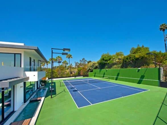 tennis court size for home
