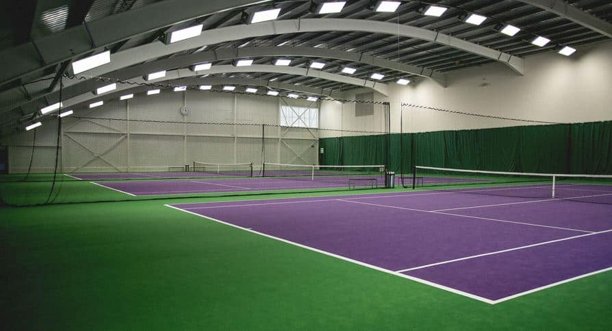 indoor tennis court dimensions
