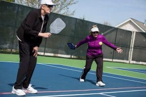 Pickleball playing