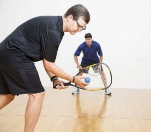 play the game of racquetball